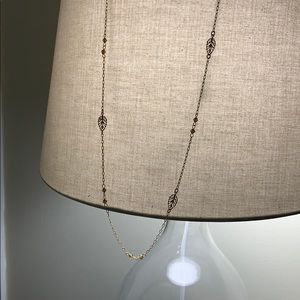 Simple gold and brown necklace